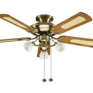 Mayfair combi, stropný ventilátor, antická mosadz