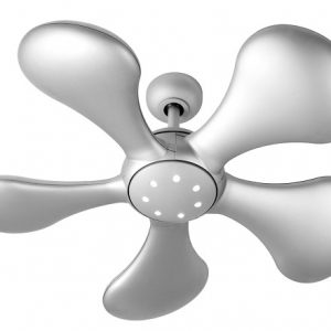 Splash, stropný ventilátor, matné striebro
