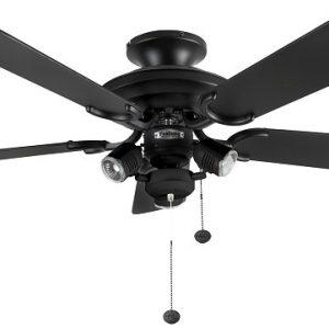 Mayfair combi, stropný ventilátor, matná čierna