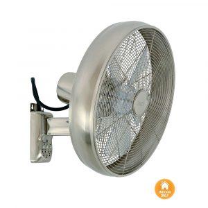 """LUCCI AIR BREEZE WALL FAN 213126EU 16 """"matný chrom Nástenný ventilátor"""