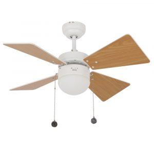 """BEACON LUCCI AIR BREEZER 512114 32"""" biela/svetlý buk/biela Reverzný stropný ventilátor"""