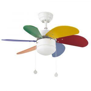 """FARO PALAO 33179 31,8"""" farebný Reverzný stropný ventilátor"""