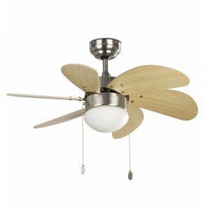 """FARO PALAO 33183 31,8"""" matný nikel/javor Reverzný stropný ventilátor"""