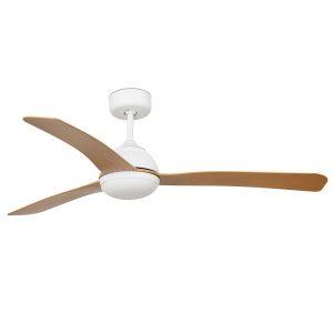 """FARO GRID 33341 52"""" biela/svetlé drevo Reverzný stropný ventilátor"""