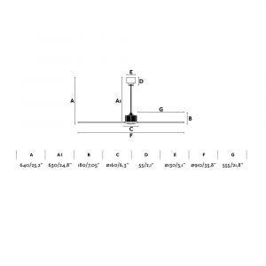 """FARO JUST FAN 33426 35,8"""" chróm/transparentná Reverzný stropný ventilátor"""