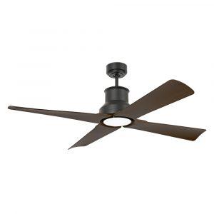 """FARO WINCHE 33481 50"""" čierna/tmavé drevo Reverzný stropný ventilátor"""