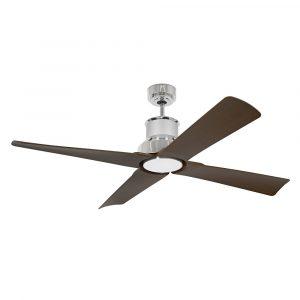 """FARO WINCHE 33482 50"""" chróm/tmavé drevo Reverzný stropný ventilátor"""