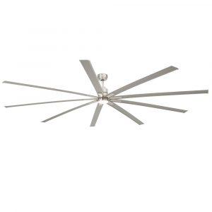 """FARO MANHATTAN 33496 96"""" matný nikel/hliník Reverzný stropný ventilátor"""