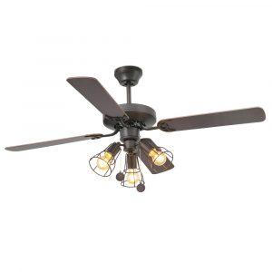 """FARO YAKARTA 33713 47,6"""" hnedá/mahagón/tmavý orech Reverzný stropný ventilátor"""