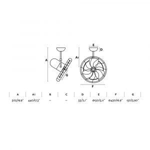"""FARO KEIKI 33720 16,9"""" biela/biela Reverzný stropný ventilátor"""
