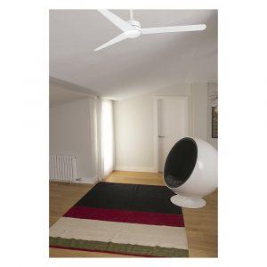 """FARO NU 33721 52"""" matná biela/matná biela Reverzný stropný ventilátor"""