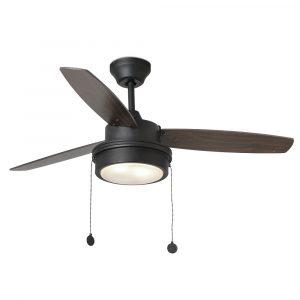 """FARO KOMODO 33723 41,73"""" čierna/čierna/vlašský orech Reverzný stropný ventilátor"""